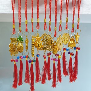 Harga set 12pcs gantungan emas hiasan imlek dekorasi pohon sakura koin | HARGALOKA.COM