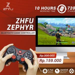Harga zhfu zephyr bluetooth game controller ios pc android stik   HARGALOKA.COM