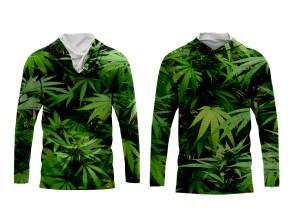 Harga baju pria hoodie daun singkong kaos printing   | HARGALOKA.COM