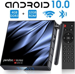 Harga android tv box pendoo x11 pro ram 4g rom 32g android 10 allwiner h616   tv box | HARGALOKA.COM