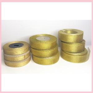 Harga pita gold emas gliter lebar 2 3cm varian hiasan hampers   per rol   setengah | HARGALOKA.COM
