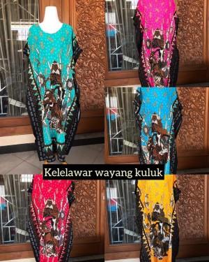 Harga daster batik jumbo adem dipakai tidak luntur motif wayang lowo ld | HARGALOKA.COM