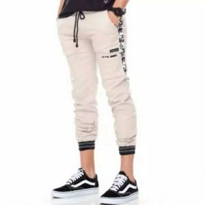 Harga celana panjang jogger pocket army   cream | HARGALOKA.COM