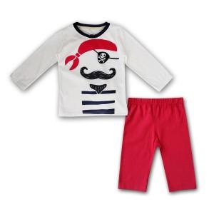 Harga bearhug piyama anak laki laki xpf1 putih bajak laut celana merah 2 4t   | HARGALOKA.COM