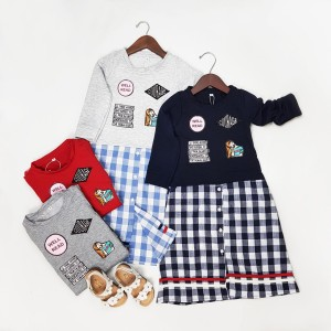 Harga dress tunik anak perempuan tanggung import baju anak cewek murah   d   merah 3 4 | HARGALOKA.COM