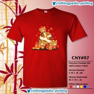 Harga kaos baju keluarga couple imlek cny 07 sincia 2021 year of the ox imut   merah | HARGALOKA.COM