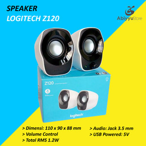 Harga speaker pc logitech z120 speaker multimedia laptop | HARGALOKA.COM