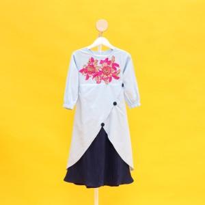 Harga tunik anak perempuan tanggung import baju dress anak cewek murah   c   merah muda 3 4 | HARGALOKA.COM