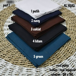 Harga hijab segi empat voal polos magical kerudung segi empat polos premium   part 1 warna no | HARGALOKA.COM