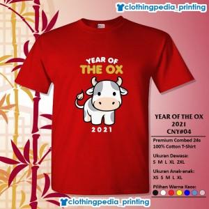 Harga kaos baju keluarga couple imlek year of the ox 2021 cny 04 sincia imut   merah | HARGALOKA.COM