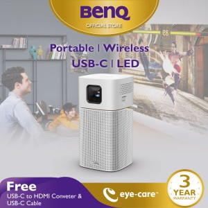Harga mini wireless projector benq gv1 portable bluetooth speaker usb c | HARGALOKA.COM