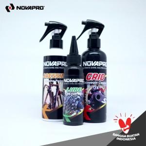 Harga 3in1 paket perawatan sepeda novapro grid lube dan | HARGALOKA.COM
