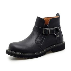 Harga sepatu boots kulit casual pria premium sepatu motor kulit pria     HARGALOKA.COM