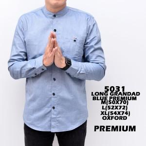 Harga 5031 baju hem panjang casual biru muda kemeja polos grosir murah   biru muda | HARGALOKA.COM