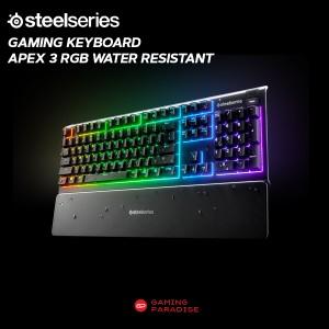Harga gaming keyboard steelseries apex 3 rgb wired kabel water   HARGALOKA.COM