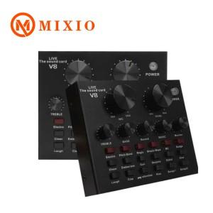 Harga mixio sound card v8 mixer soundcard v8 mixer audio usb | HARGALOKA.COM