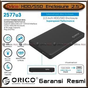 Harga casing hard disk external orico 2577u3 2 5 inch hdd ssd sata | HARGALOKA.COM