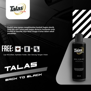 Harga talas back to black   penghitam vynil karet plastik mobil motor   | HARGALOKA.COM