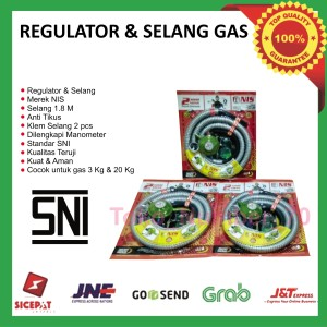 Harga regulator nis dan selang gas kompor elpiji satu paket | HARGALOKA.COM