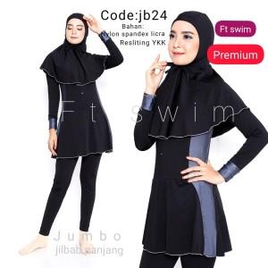 Harga baju renang jumbo  big size baju renang wanita muslim dewasa muslimah   jb22 | HARGALOKA.COM