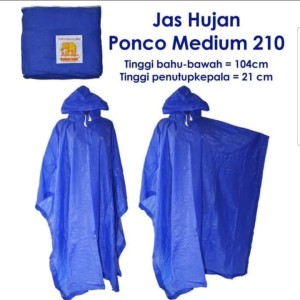 Harga jas hujan ponco medium 210   raincoat jas hujan kelelawar   HARGALOKA.COM