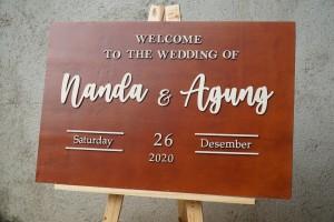 Info Bundle Dekorasi Pernikahan Welcome Sign Signage Kayu Box Cincin Katalog.or.id