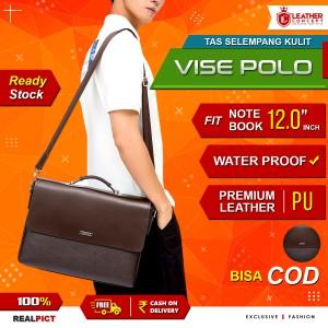 Harga tas kerja kulit pria tas kerja pria tas selempang kulit pria vise polo   | HARGALOKA.COM