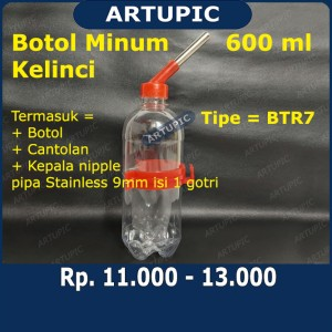 Harga botol minum kelinci 600 ml btr7 dot tempat minum kelinci hamster | HARGALOKA.COM