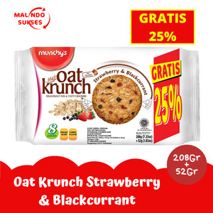 Harga oat krunch strawberry amp blackcurrant 208 gr gratis 25 | HARGALOKA.COM