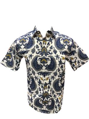Harga batik sutra putih lengan pendek   warna | HARGALOKA.COM