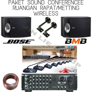Harga paket sound conference mic wireless 8 mic ch speaker bose 8 inch | HARGALOKA.COM