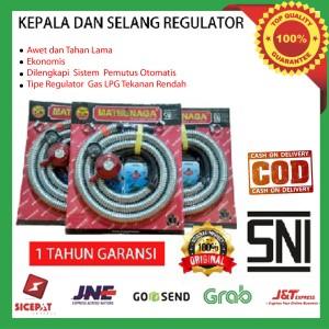 Harga regulator matsunaga dan selang gas kompor elpiji satu paket | HARGALOKA.COM