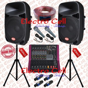 Harga paket sound system outdoor speaker 15in power mixer 6channel | HARGALOKA.COM