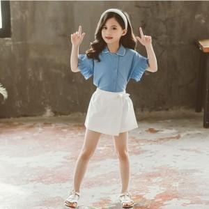 Harga setelan jeans anak setelan celana anak baju casual anak korea | HARGALOKA.COM