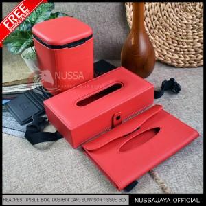 Harga Kotak Tempat Tissue Headrest Mobil Exclusive Abu Abu Katalog.or.id