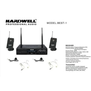 Harga mic wireless hardwell original best 1 headset lidi clip | HARGALOKA.COM