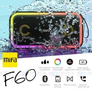 Harga mifa f60 bluetooth tws speaker 40w ipx7 waterproof rgb led | HARGALOKA.COM