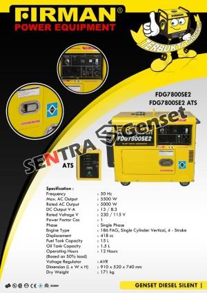 Harga Mesin Genset Diesel Silent Generator Sdg7900 Multipro Sdg 7900 Katalog.or.id