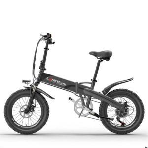 Harga termurah lankeleisi sepeda elektrik lipat lite edition g660   black | HARGALOKA.COM