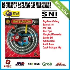 Harga regulator matsunaga dan selang gas lpg kompor elpiji satu paket | HARGALOKA.COM