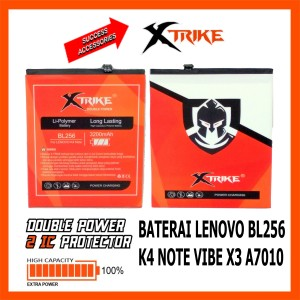 Harga baterai xtrike double power lenovo bl256 k4 note vibe x3 a7010 | HARGALOKA.COM