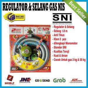 Harga regulator nis dan selang gas lpg kompor elpiji satu paket | HARGALOKA.COM