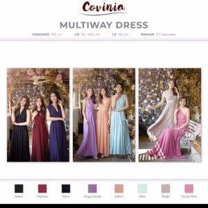 Harga paket ekonomis bridesmaid gown gaun bridesmaid infinity dress multiway   | HARGALOKA.COM