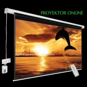 Harga screen projector 200 34 motorize layar proyektor 200 34 | HARGALOKA.COM
