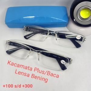 Harga kacamata plus baca jadi lensa bening tipis aa 621t hanya untuk baca   | HARGALOKA.COM