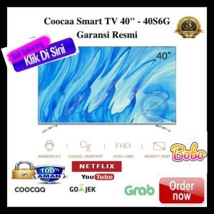 Harga coocaa android smart led tv 40s6g netflix  40 inch garansi | HARGALOKA.COM