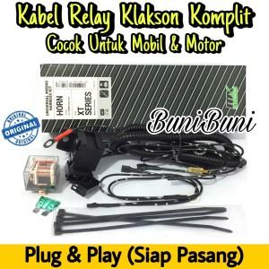 Harga kabel relay klakson komplit untuk mobil dan motor original 2 klakson | HARGALOKA.COM