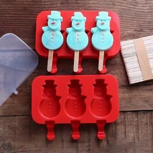 Harga cetakan silikon ice cream popsicle snowman cetakan es krim   HARGALOKA.COM