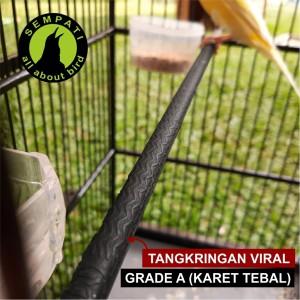 Harga tangkringan setan karet hitam sangkar murai viral lapis kayu anti | HARGALOKA.COM