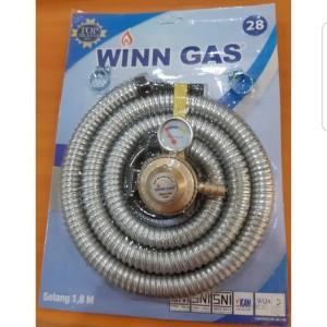 Harga selang gas fleksibel regulator meter winn gold | HARGALOKA.COM